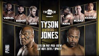 Mike Tyson vs. Roy Jones Jr. Full Results