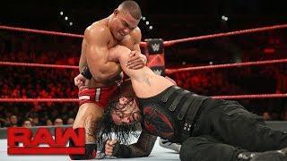 Jason Jordan faces Roman Reigns in a standout RAW match.