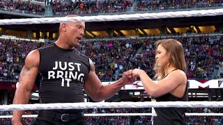 Stephanie McMahon Wants Both The Rock & Ronda Rousey Back For WrestleMania 37 In Hollywood