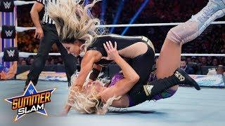 Charlotte Flair Defeats Trish Stratus At WWE SummerSlam; Trish Salutes Crowd After The Match