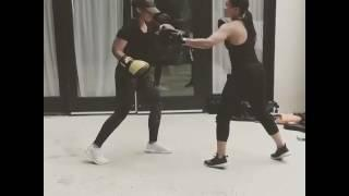 VIDEO: See Alicia Keys Hitting Mitts