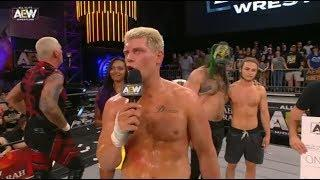 Cody Rhodes Is Happy To Be Part Of The First Match When AEW Debuts On TNT