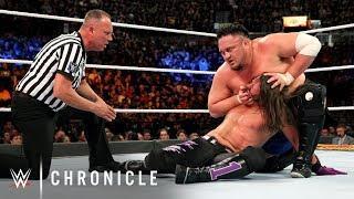 Samoa Joe and AJ Styles in their SummerSlam clash.