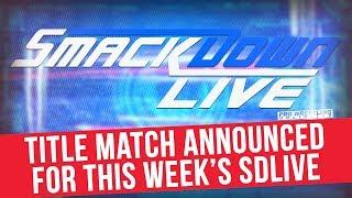 WWE United States Championship Match Made Official For This Upcoming Tuesday's SmackDown Live