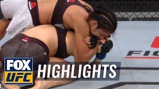 WATCH: Cynthia Calvilo Taps Out Poliana Botelho At UFC Argentina | Highlights