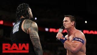 Roman Reigns and John Cena battled again at a WWE house show in Prescott Valley, AZ, on February 18, 2018.