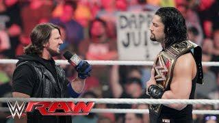 Roman Reigns: If I Had To Wrestle Only One Guy For The Rest Of My Life, I'd Pick AJ Styles
