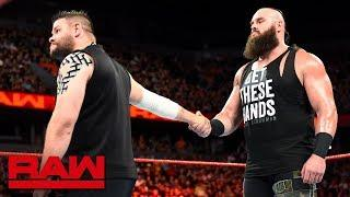 Kevin Owens attempts to end his conflict with rival Braun Strowman.
