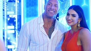 Billie Kay Was Prepared To Jump Off A Ramp In High Heels To Make Sure That She Met The Rock