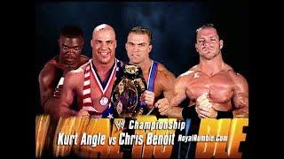 Kurt Angle Feels That His Career Defining Match Was Against Chris Benoit At 2003 Royal Rumble PPV