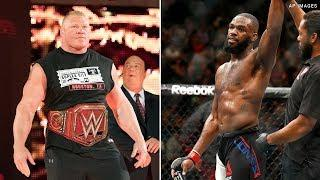 WATCH: WWE Teases Jon Jones In Front Row For Brock Lesnar's Match At SummerSlam
