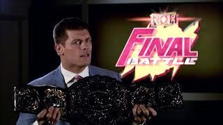 Cody Rhodes: I Will Take The ROH World Title Into Free Agency
