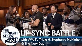 VIDEO: The New Day And Jimmy Fallon vs. Stephanie McMahon and Triple H In A Lip Sync Battle On The Tonight Show