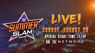 WWE Unveils Summerslam Week Schedule