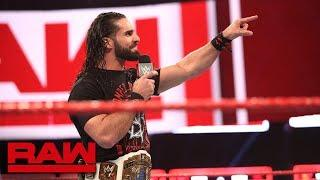 Seth Rollins Set To Address Dean Ambrose And The Current State Of WWE Raw