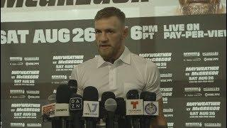 VIDEO: Conor McGregor Media Day Scrum