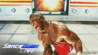 Shelton Benjamin Shows Off The Lump He Developed Above His Eyebrow At Last Night's WWE Live Event