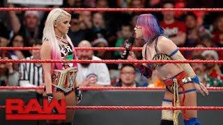 Alexa Bliss and Asuka before their potential WrestleMania match.