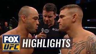 Dustin Poirier Combos Eddie Alvarez Out of Their UFC Calgary Fight