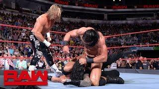 Roman Reigns faced Dolph Ziggler in the headliner in each of the cards on the last loop of Raw live events before Summerslam.