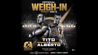 Combate Americas: Tito vs. Alberto Weigh-In Results, 3 Fighters Heavy