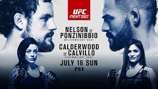 UFC Fight Night: Glasgow Results - Nelson vs. Ponzinibbio, Calvillo vs. Calderwood & Seery Retires