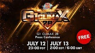 Live: G1 CLIMAX 28 : Press Conference (July 13)