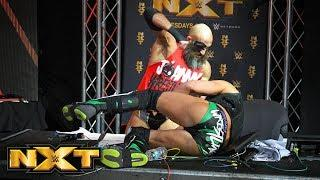 Tommaso Ciampa attacks Johnny Gargano.