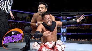 Hideo Itami and Akira Tozawa in this week's 205 Live main event.