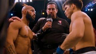 Henry Cejudo Wrestles Flyweight Title Away From Demetrious Johnson at UFC 227