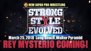 Rey Mysterio Challenges Jushin Thunder Liger To A Match At Strong Style Evolved