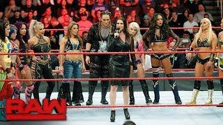 Stephanie McMahon announces the first ever Women's Royal Rumble on RAW.
