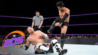 Hideo Itami and Buddy Murphy in their 205 Live main event with Mustafa Ali.