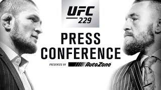 LIVE AT 5 PM EST: UFC 229 Press Conference: Khabib vs McGregor And Full Coverage