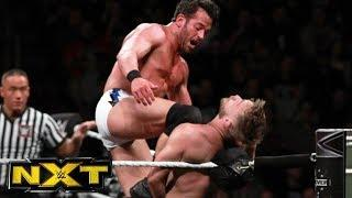 Roderick Strong flurries on Tyler Bate in their NXT TV main event.