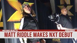 Matt Riddle Makes His NXT Live Event Debut